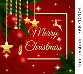 vector christmas card design... | Shutterstock .eps vector #768710104