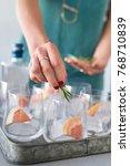festive celebration drinks... | Shutterstock . vector #768710839