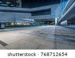 empty brick road nearby office... | Shutterstock . vector #768712654