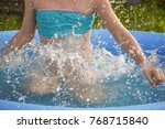 little girl playing and...   Shutterstock . vector #768715840