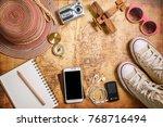 travel plan  trip vacation ... | Shutterstock . vector #768716494