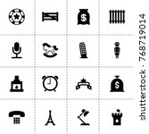 old icons. vector collection...
