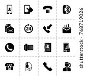 contact icons. vector... | Shutterstock .eps vector #768719026