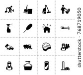 cleaner icons. vector...