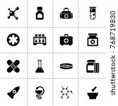 pharmacy icons. vector...