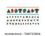 vector of modern stylized font... | Shutterstock .eps vector #768722806