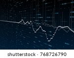 abstract forex chart backdrop.... | Shutterstock . vector #768726790