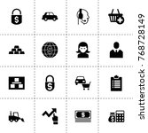 business icons. vector...