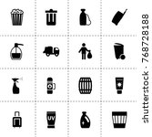 container icons. vector... | Shutterstock .eps vector #768728188