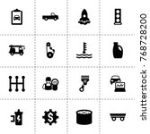 engine icons. vector collection ...