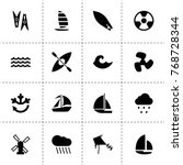 wind icons. vector collection...