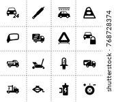 automobile icons. vector... | Shutterstock .eps vector #768728374