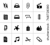 clip icons. vector collection...