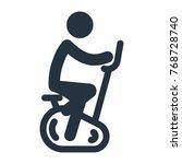 bike exercise icon on white...   Shutterstock .eps vector #768728740