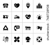 emergency icons. vector... | Shutterstock .eps vector #768728938