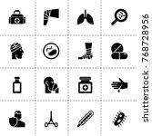 illness icons. vector...   Shutterstock .eps vector #768728956