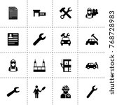 profession icons. vector... | Shutterstock .eps vector #768728983