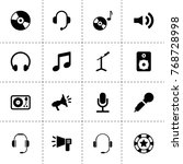 audio icons. vector collection... | Shutterstock .eps vector #768728998
