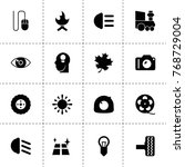 bright icons. vector collection ... | Shutterstock .eps vector #768729004
