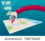 we have moved  changed address  | Shutterstock . vector #768730669