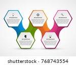 hexagon options infographics... | Shutterstock .eps vector #768743554