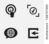 set of web site vector   icons. | Shutterstock .eps vector #768747400
