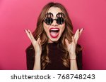 close up portrait of a happy...   Shutterstock . vector #768748243