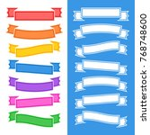 set of flat isolated colored... | Shutterstock .eps vector #768748600