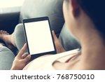 portrait of young beautiful... | Shutterstock . vector #768750010