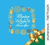 winter sale best offer poster... | Shutterstock .eps vector #768751624