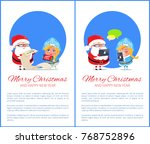merry christmas and happy new... | Shutterstock .eps vector #768752896