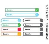 search bar template logo   Shutterstock .eps vector #768756178