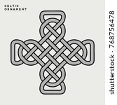 vector celtic ornament   Shutterstock .eps vector #768756478