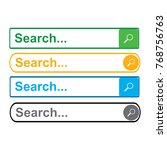 search bar template | Shutterstock .eps vector #768756763