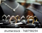 jewelry diamond rings and... | Shutterstock . vector #768758254