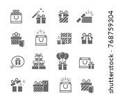set of gift boxes | Shutterstock .eps vector #768759304