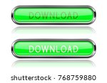 download long green buttons... | Shutterstock .eps vector #768759880
