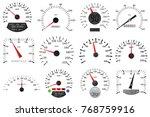 speedometer and tachometer... | Shutterstock .eps vector #768759916