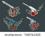 vector set of laser guns and... | Shutterstock .eps vector #768761320