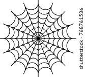 spider web icon design vector... | Shutterstock .eps vector #768761536