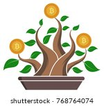 bonsai  slow growth of the...   Shutterstock .eps vector #768764074