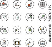 line vector icon set   baggage... | Shutterstock .eps vector #768764590