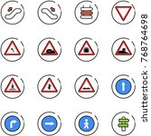 line vector icon set  ... | Shutterstock .eps vector #768764698