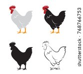 vector of chicken design on... | Shutterstock .eps vector #768766753