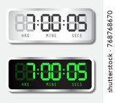 digital alarm clock. vector... | Shutterstock .eps vector #768768670