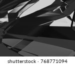 abstract black white and gray... | Shutterstock . vector #768771094