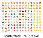 set of realistic cute icons on... | Shutterstock .eps vector #768776560