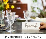 table reserved in a cafe | Shutterstock . vector #768776746