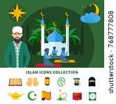 religions flat icon set... | Shutterstock .eps vector #768777808