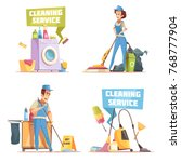 cleaning service 2x2 design...   Shutterstock .eps vector #768777904